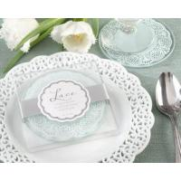 Cheap Lace Exquisite Frosted-Glass Coasters(2pcs/set) for sale