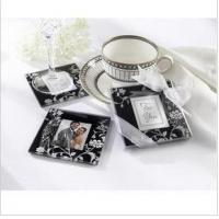 Cheap Promotion - Timeless Tradition Glass Photo Coasters(Black)(2pcs/set) for sale