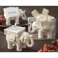 Cheap Candles Favors - White Elephant Candle Holder for sale