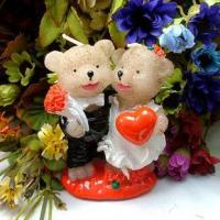 Cheap Married Couple Bear Candle for sale