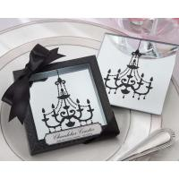 Cheap Chandelier Mirrored Glass Coasters (2pcs/set) for sale