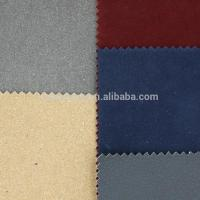 Cheap HY-062 pu leather flocking fabric for shoe sofa for sale
