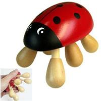 Cheap lady beetle animal wooden massager for sale