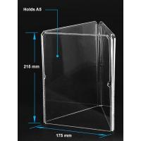 Cheap Acrylic Table Tent Clear acrylic A5 menu holder with three sides for sale