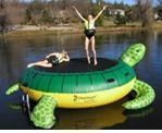Cheap kids inflatable water float sea turtle trampoline-WG-048 for sale