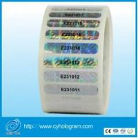 Cheap Dynamic hologram sticker with black serial number in roll for sale