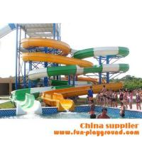 Cheap fiberglass spiral adult slides aqua theme park tubes equipment amusement rides price for sale for sale
