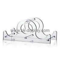 Cheap China acrylic factory wholesale acrylic wine bottle display rack WD-048 for sale