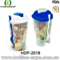 Cheap High Quality Salad Shaker Cup with Fork (HDP-2018) for sale