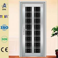 High-quality, stainless steel glass door