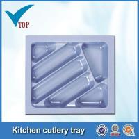 Cheap Kitchen drawer plastic cutlery tray for sale