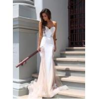 Cheap Fashion Women Lace Mermaid Sweetheart Court Train Evening Party Dress for sale