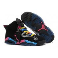 Buy cheap Air Jordan Retro 6s Black Pink Blue Womens Most Comfortable Shoes from wholesalers
