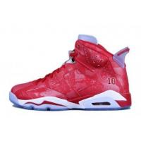 Air jordan 6 retro slam dunk varsity red white womens sneakers on sale