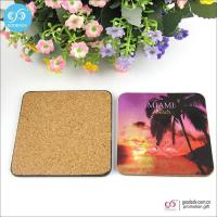 Cheap Products 10*10cm MDF mats custom printed blank beer coasters cork coasters for sale