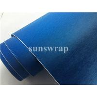 Cheap Blue Brushed Steel Vinyl Film for sale