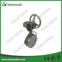 double offset butterfly valve Worm Gear Double Offset Butterfly Valve