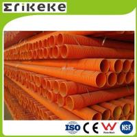 PVC pipe and fittings pvc orange colored corrugated plastic pipe
