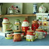 Cheap novelty Christmas gifts mug,ceramic mug for Christmas day,500ml ceramic cup with lid---MM005 for sale