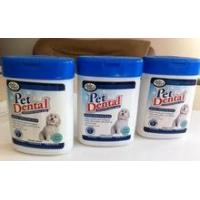 Cheap Oval canister Pet Dental Wipes for sale