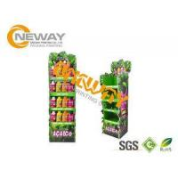 Cheap Energy Drinks Free Standing Cardboard Displays / Foldable Display Stand for sale