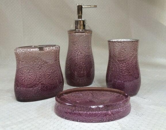 Purple bathroom accessories with certificate of bathroom for Purple toilet accessories