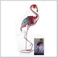 Cheap Fashionable Flamingo Metal Stake with Solar Powered Light LED Garden Decoration for sale