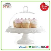 Buy cheap Melamine Plastic White Cake Stands With Lids And Square Wedding Cake Stands For Sale from wholesalers
