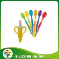 Cheap Hot Sale Food Grade Silicone Baby Spoon Toothbrush for sale