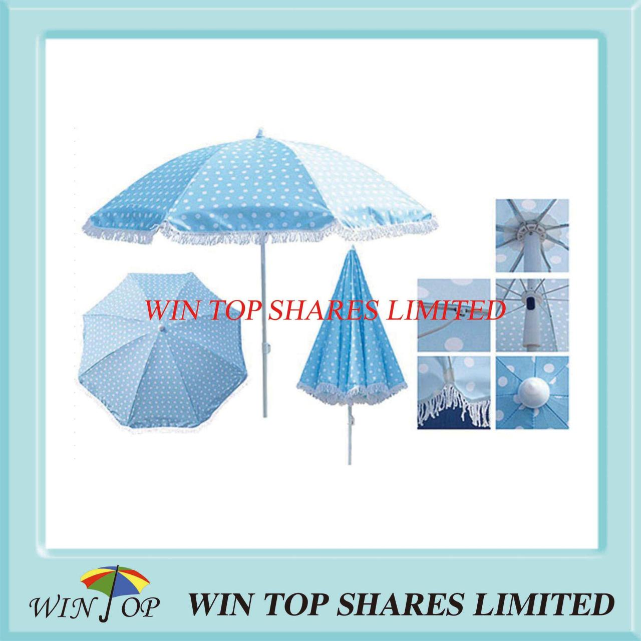 Buy cheap Printed Beach Umbrella Parasol with Lace from wholesalers
