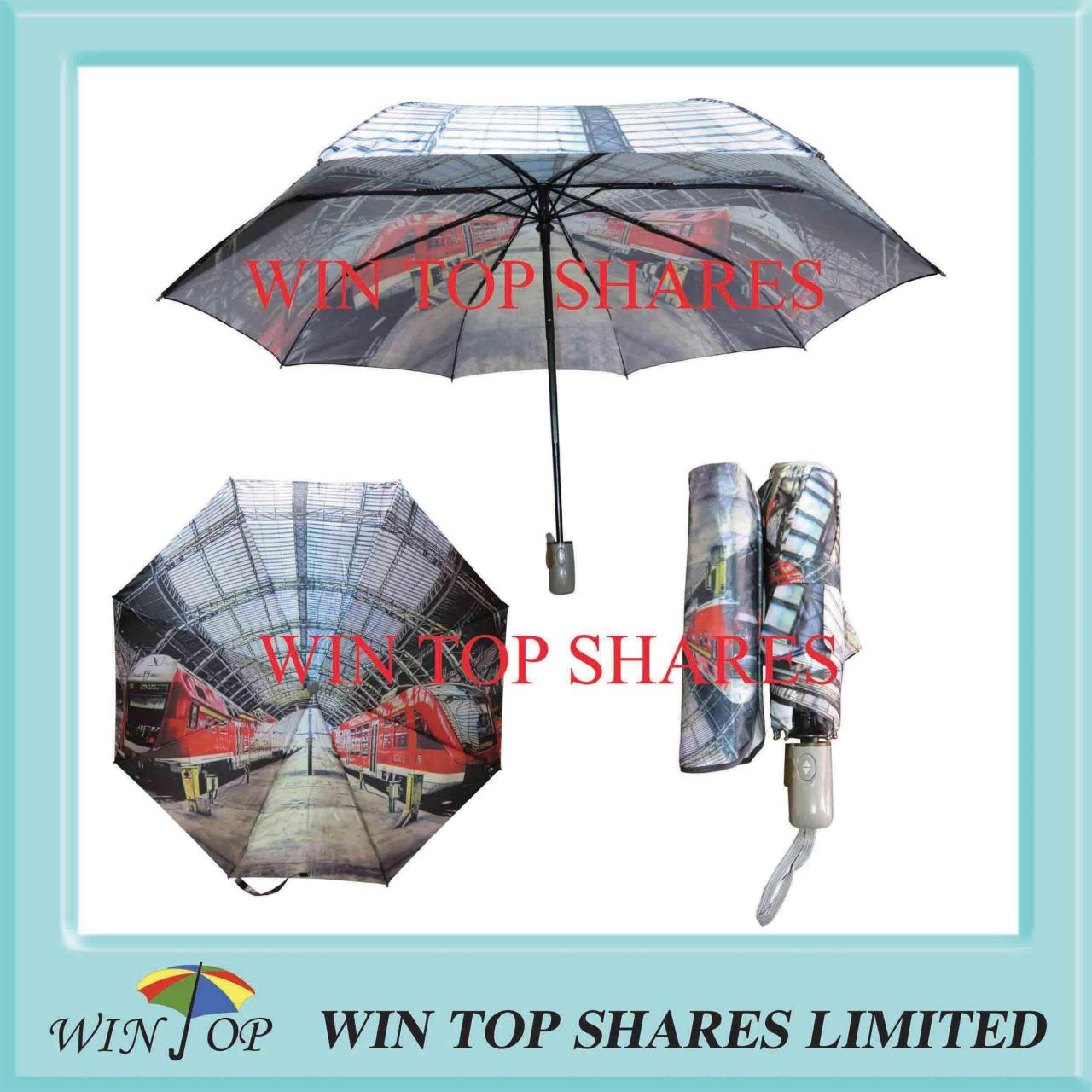 Buy cheap Metro railway station photo full automatic umbrella from wholesalers