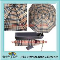Buy cheap Burberry design yarn dyeing top quality umbrella from wholesalers
