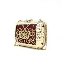Cheap Gold metal frame crystal Evening Bags for women Handcee-KB-1 for sale