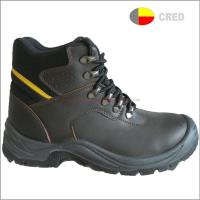PU sole safety shoes T210 fashion genuine leather safety boots
