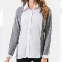 Buy cheap Ladies Fashion designs women clothes plain generous ladies shirt from wholesalers