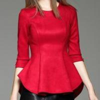 Buy cheap Ladies Fashion designs flouncy clothes suede fabric ladies clothes from wholesalers