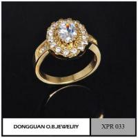 Cheap Rings Simple Design Wedding Rings, Gemstone Setting Jewelry, Romantic Gold Ring for sale