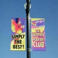 Cheap Mesh banner shanghai Advertising Street Pole flag Banners for sale