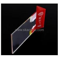 Cheap Wholesale acrylic tabletop sign holder 11x17 sign holder clear sign holder SH-049 for sale