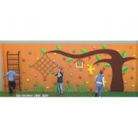 Cheap 2017 Latest Professional Design Kids Outdoor Wooden Climbing Wall with Plastic Climbing Holds for sale