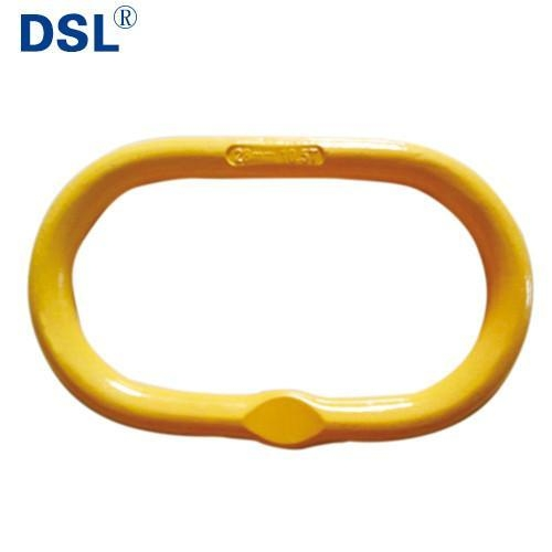 Quality G80 US Type Forged Welded Steel Oblong Master Link with Flat for 1 or 2 Legs Chain Sling wholesale