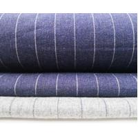 Thin Stripe Heather Look Soft Hand Flannel Manufactures