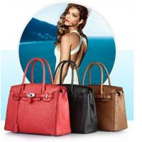 luxury design ostrich skin handbags at high quality ,welcome for customized design Manufactures