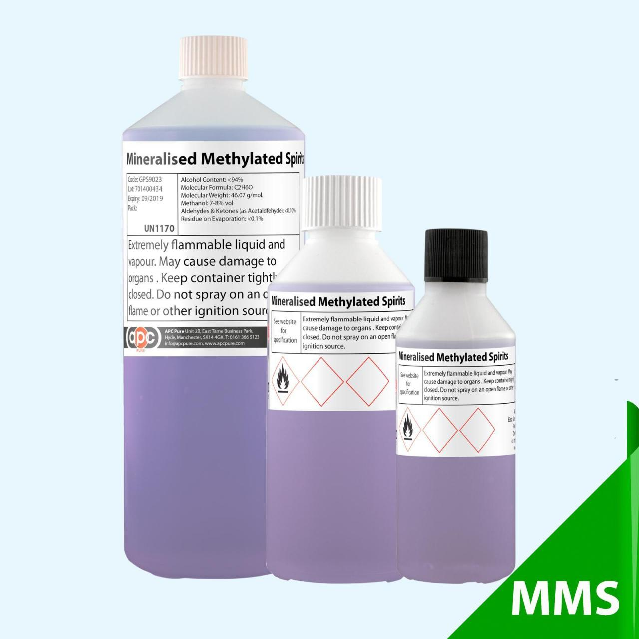 Mineralised Methylated Spirits (Completely Denatured Ethanol) Manufactures
