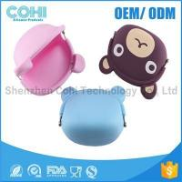 Cheap Fashionable animal waterproof rubber silicon bear shaped coin purse for sale