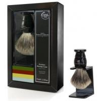 Cheap Edwin Jagger Aloe Vera 3-Piece Gift Set with Faux Ebony Brush and Stand for sale
