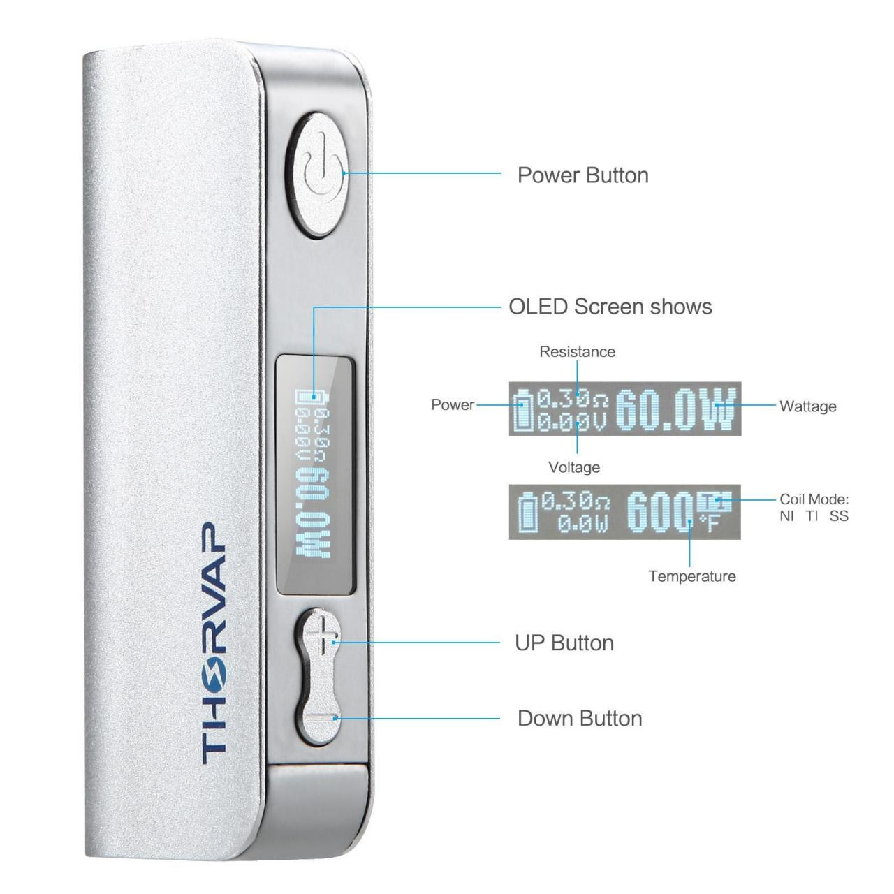 Buy cheap BATTERY iBOX TC 60W-Silver from wholesalers