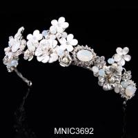 Cheap High Quality Zircon With Pearl Bridal Wedding Headpiece Jewelry for sale