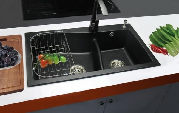 German style double bowl customized kitchen sink quartz for German kitchen sinks