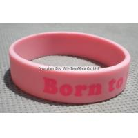 Cheap Silicone Wristband Product name:Silicone Wristband,Pink Imprinted Wristband for sale